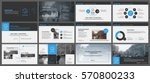 blue and grey elements for... | Shutterstock .eps vector #570800233