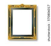 vintage green picture frame | Shutterstock .eps vector #570806017