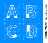 construction sketches of a b c... | Shutterstock . vector #570812353