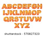the cartoon orange alphabet ... | Shutterstock .eps vector #570827323