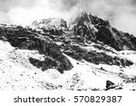 black and white himalayan scene ... | Shutterstock . vector #570829387