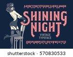 vintage cabaret style font with ... | Shutterstock .eps vector #570830533