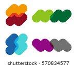 abstract vector wave logo... | Shutterstock .eps vector #570834577