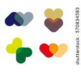 abstract vector love heart logo ... | Shutterstock .eps vector #570834583