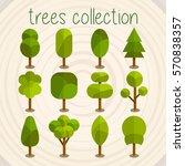 trees selection | Shutterstock .eps vector #570838357