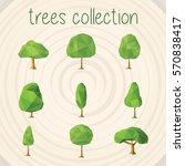 trees selection | Shutterstock .eps vector #570838417