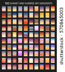 vector set of 100  sunset and... | Shutterstock .eps vector #570865003
