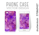 case for mobile phone with... | Shutterstock .eps vector #570869437