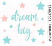 handwritten lettering on white. ... | Shutterstock .eps vector #570875983