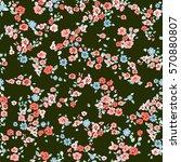 elegant gentle trendy pattern... | Shutterstock . vector #570880807