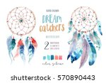 isolated watercolor decoration... | Shutterstock . vector #570890443