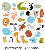 big vector set of animals. the... | Shutterstock .eps vector #570890563