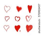 hearts. design elements for...   Shutterstock . vector #570903457