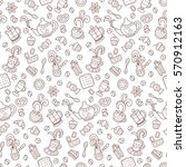 coffee. seamless pattern.... | Shutterstock .eps vector #570912163