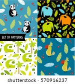 4 vector seamless pattern with... | Shutterstock .eps vector #570916237