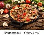 delicious homemade mushroom... | Shutterstock . vector #570926743