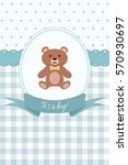 baby boy shower or arrival card ... | Shutterstock .eps vector #570930697
