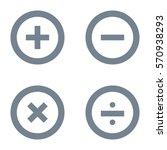 basic mathematical symbols icon ... | Shutterstock .eps vector #570938293