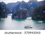 beautiful view of halong bay ... | Shutterstock . vector #570943543