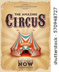 Vintage Old Circus Poster With...