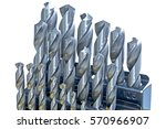 set of drill bits for metal... | Shutterstock . vector #570966907