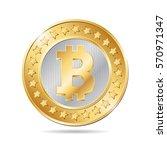 vector illustration of a coin... | Shutterstock .eps vector #570971347