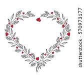 vector illustration of hearts ... | Shutterstock .eps vector #570973177