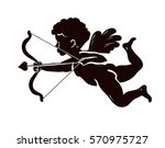 silhouette angel  cupid or... | Shutterstock .eps vector #570975727