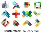square and stripes geometric... | Shutterstock .eps vector #570979753