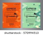 set a4 express delivery service ... | Shutterstock .eps vector #570994513
