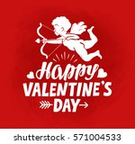 happy valentine's day  greeting ... | Shutterstock .eps vector #571004533