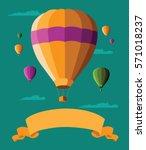 flat design hot air balloons...   Shutterstock .eps vector #571018237