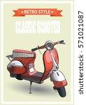 vector illustration of a retro... | Shutterstock .eps vector #571021087