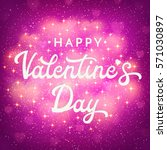 valentines day card or banner... | Shutterstock .eps vector #571030897