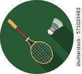 badminton sport | Shutterstock .eps vector #571033483