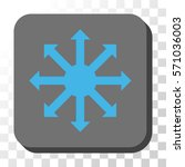 radial arrows rounded button.... | Shutterstock .eps vector #571036003