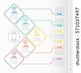 business presentation concept... | Shutterstock .eps vector #571037497