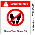 please take shoes off. do not... | Shutterstock .eps vector #571038097