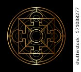 vector ornamental buddhist... | Shutterstock .eps vector #571038277