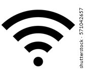 vector illustration of wifi... | Shutterstock .eps vector #571042657