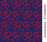 seamless pattern with hearts.... | Shutterstock .eps vector #571048393