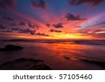 Stock photo tropical sunset on the beach koh lanta island thailand 57105460