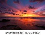 Stock photo tropical sunset on the beach koh lanta island thailand 57105460