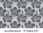 bright hawaiian seamless... | Shutterstock . vector #571061257