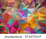 multicolor abstract triangular... | Shutterstock .eps vector #571075147