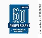 60th anniversary logo. vector... | Shutterstock .eps vector #571078807