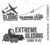 set of gliding club retro badge.... | Shutterstock .eps vector #571088857