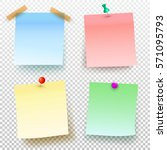 set of colored sticky note and... | Shutterstock .eps vector #571095793