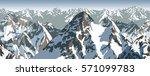 vector himalaya alps mountains... | Shutterstock .eps vector #571099783