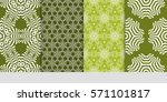 set of borders with repeating... | Shutterstock .eps vector #571101817